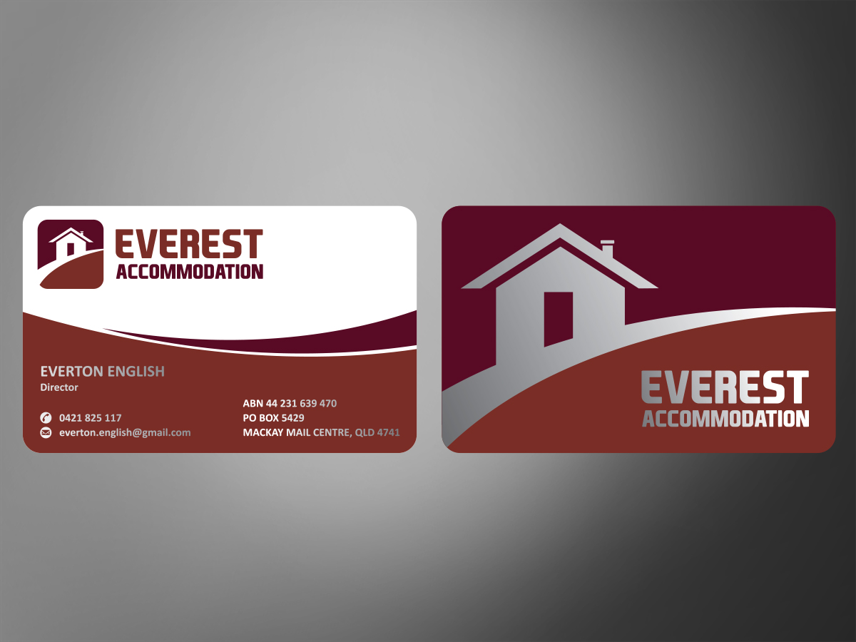 38 business card designs accommodation business card design business card design by mt for this project design 2873725 reheart Image collections