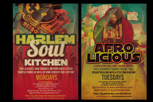 Flyer Design by One Day Graphics - Local Harlem DJ of Live Music Venue Needs Flyer...