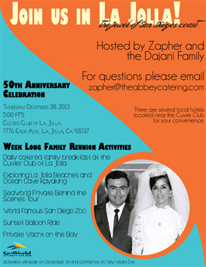 Flyer Design by jenk95 - Esam & Najwa's 50th Anniversary Celebration & R...