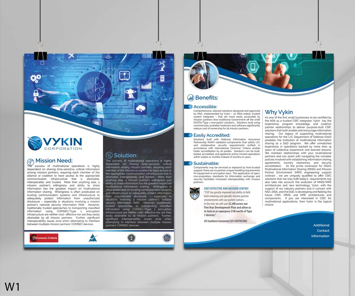 Serious, Professional, Information Technology Flyer Design