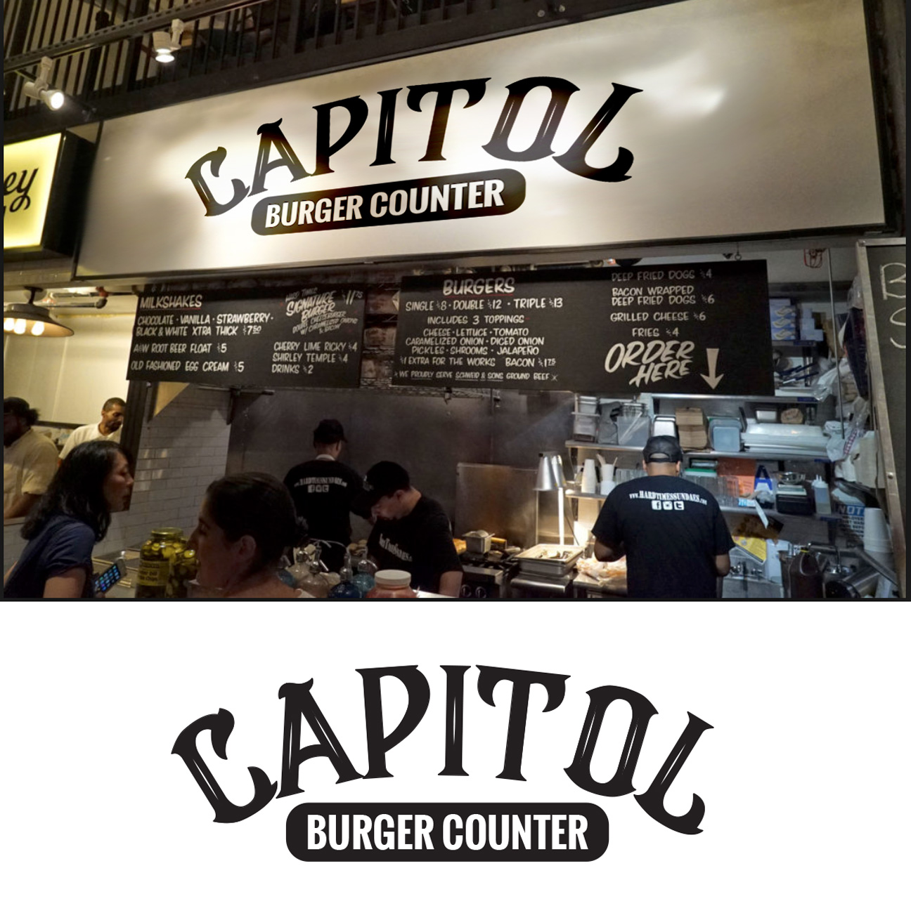 Bold, Traditional, Restaurant Logo Design for CAPITOL burger counter
