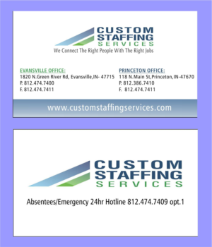 Raymond 4 freelance business card designer logo designer business card design by raymond 4 for custom staffing services reheart Gallery