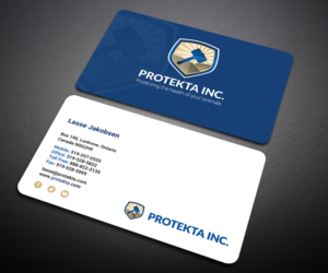Animal business card design galleries for inspiration simple professional and neat business card design for protekta inc business card design colourmoves