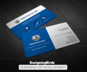 Animal business card design galleries for inspiration page 2 simple professional and neat business card design for protekta inc business card design colourmoves