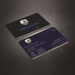 American business card design galleries for inspiration page 4 simple professional and neat business card design for protekta inc business card design reheart Images