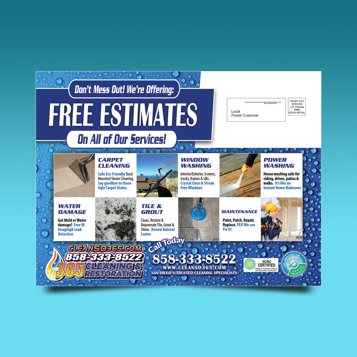 Professional Colorful Cleaning Service Flyer Design For Sd Pro