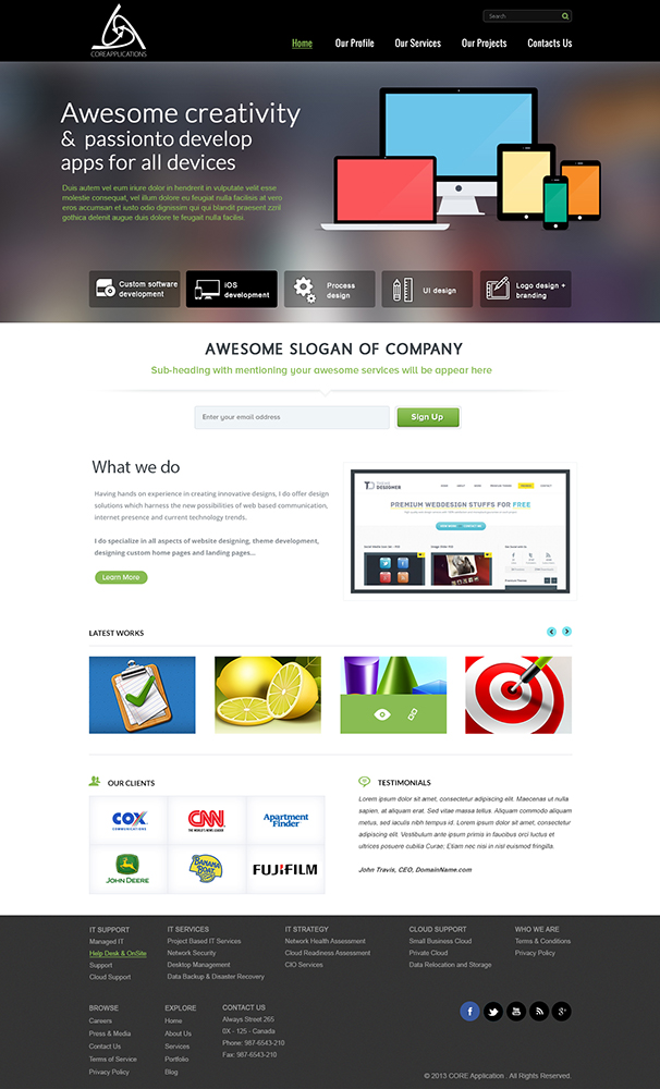Modern, Upmarket Web Design for Core Applications by kecy08 | Design ...
