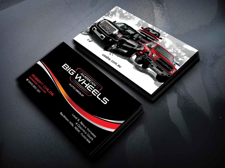 Bold Masculine Car Dealer Business Card Design For Cloud9 Finance