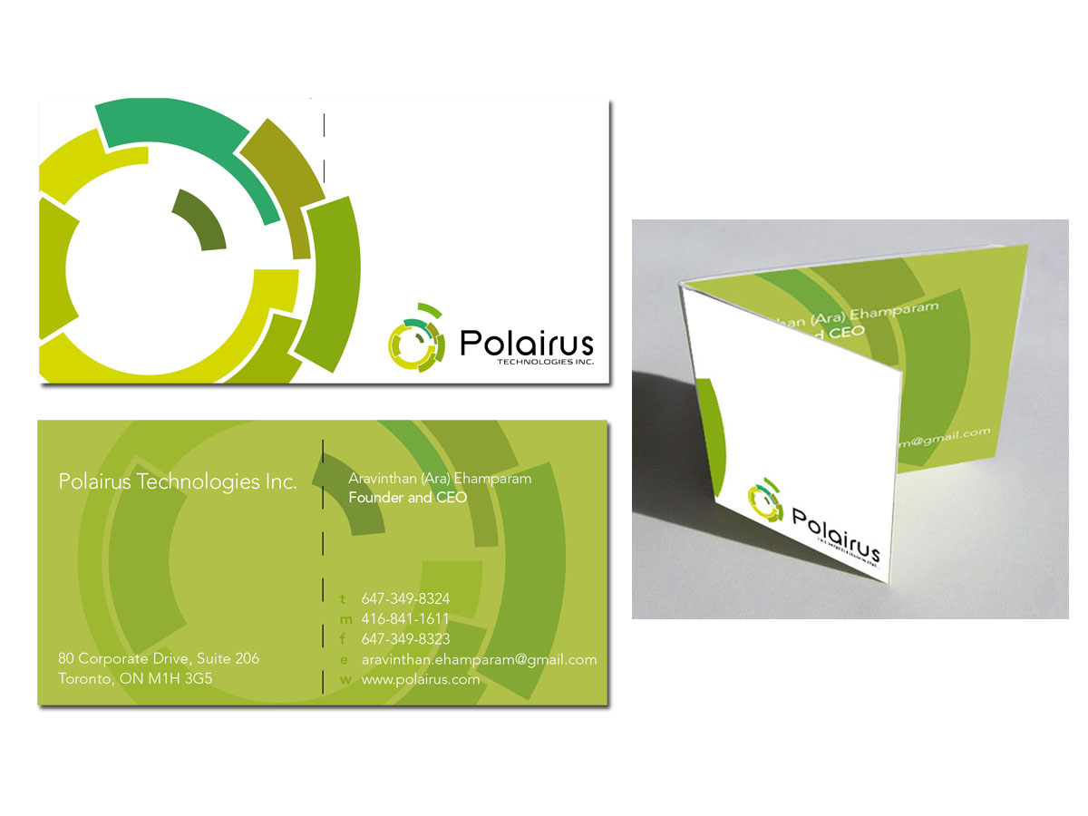 Modern, Professional, Software Business Card Design for Polairus ...