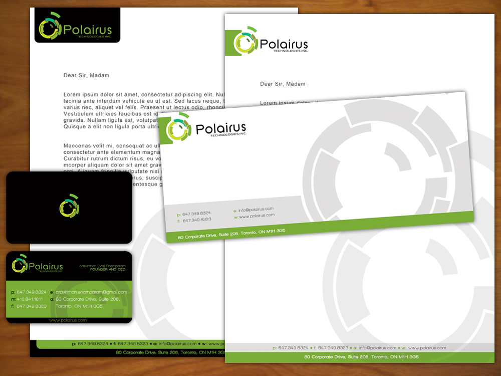 Modern Professional Software Business Card Design For Polairus Technologies Inc By K A D A Designs Design 64111
