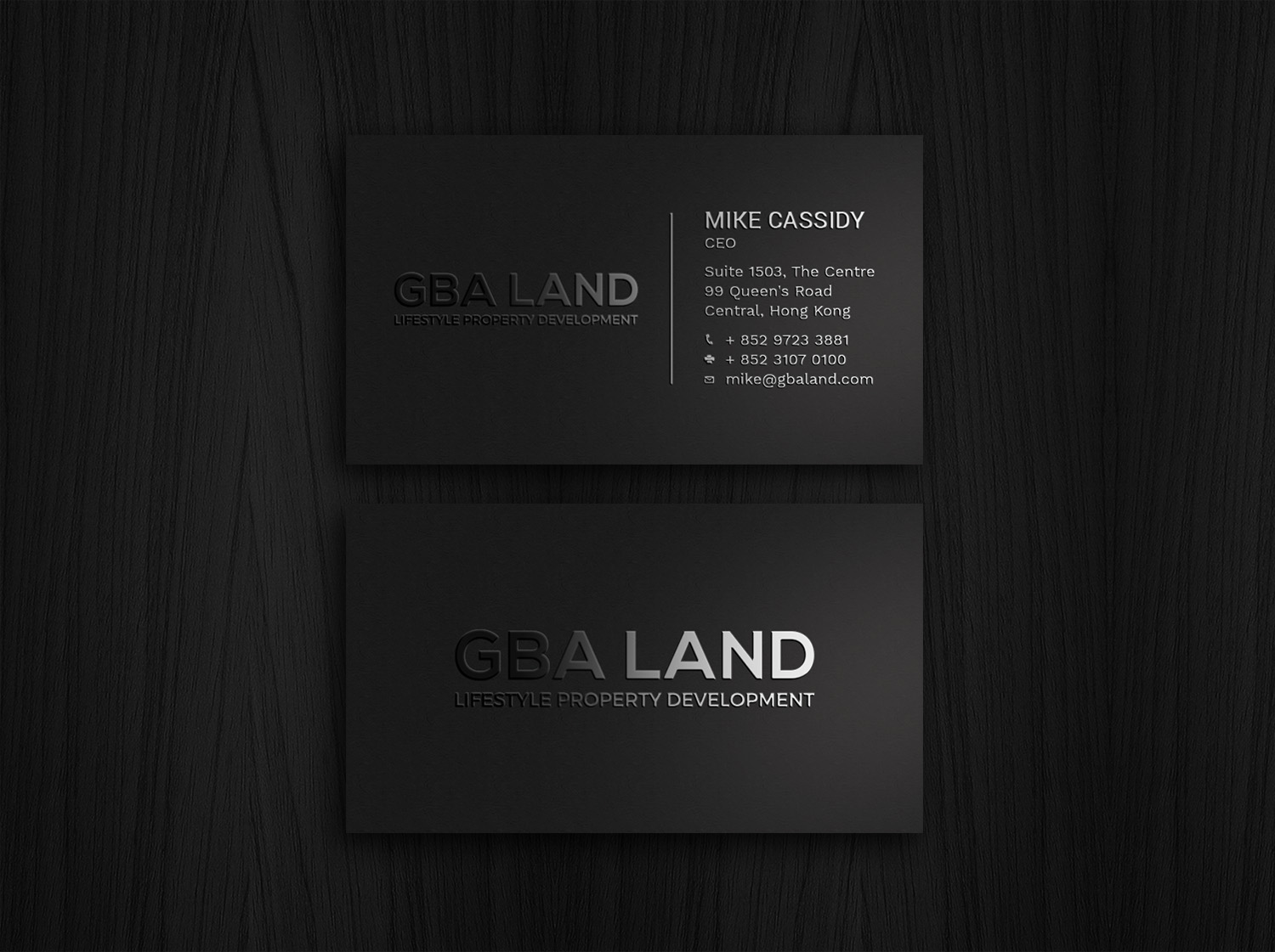 86 modern business card designs real estate development business business card design by avanger000 for this project design 19251302 reheart Image collections