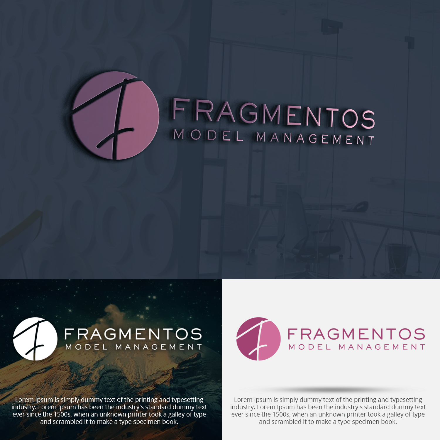 Elegant, Playful, Modeling Agency Logo Design for Fragmentos