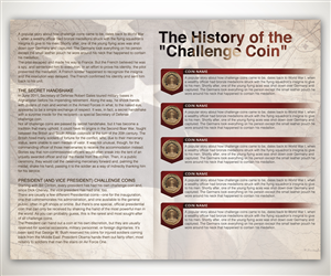 Graphic Design by Joshua Carmichael - Infographic - History of Challenge Coins