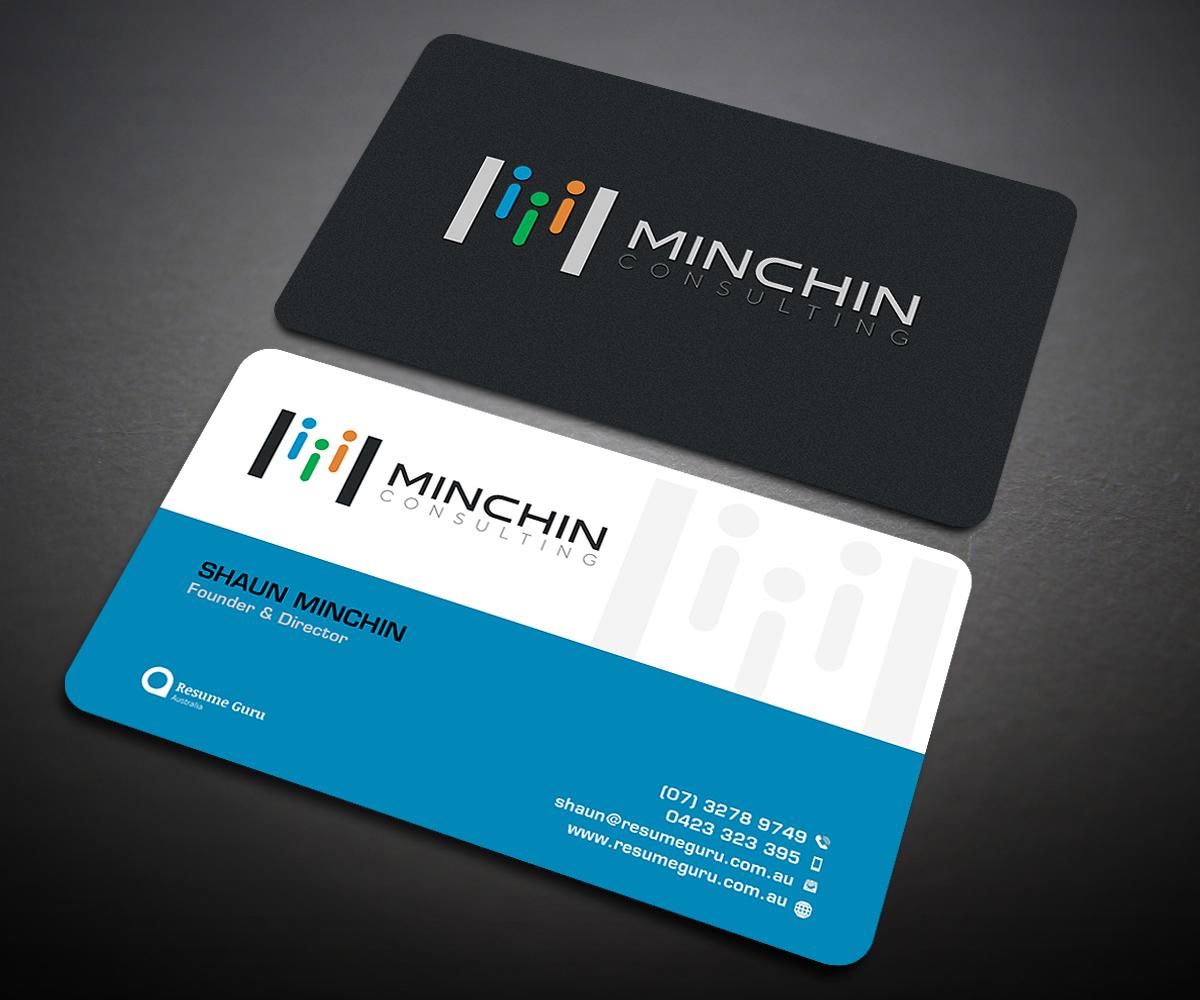 Bold Serious Business Card Design For Resume Guru Australia By