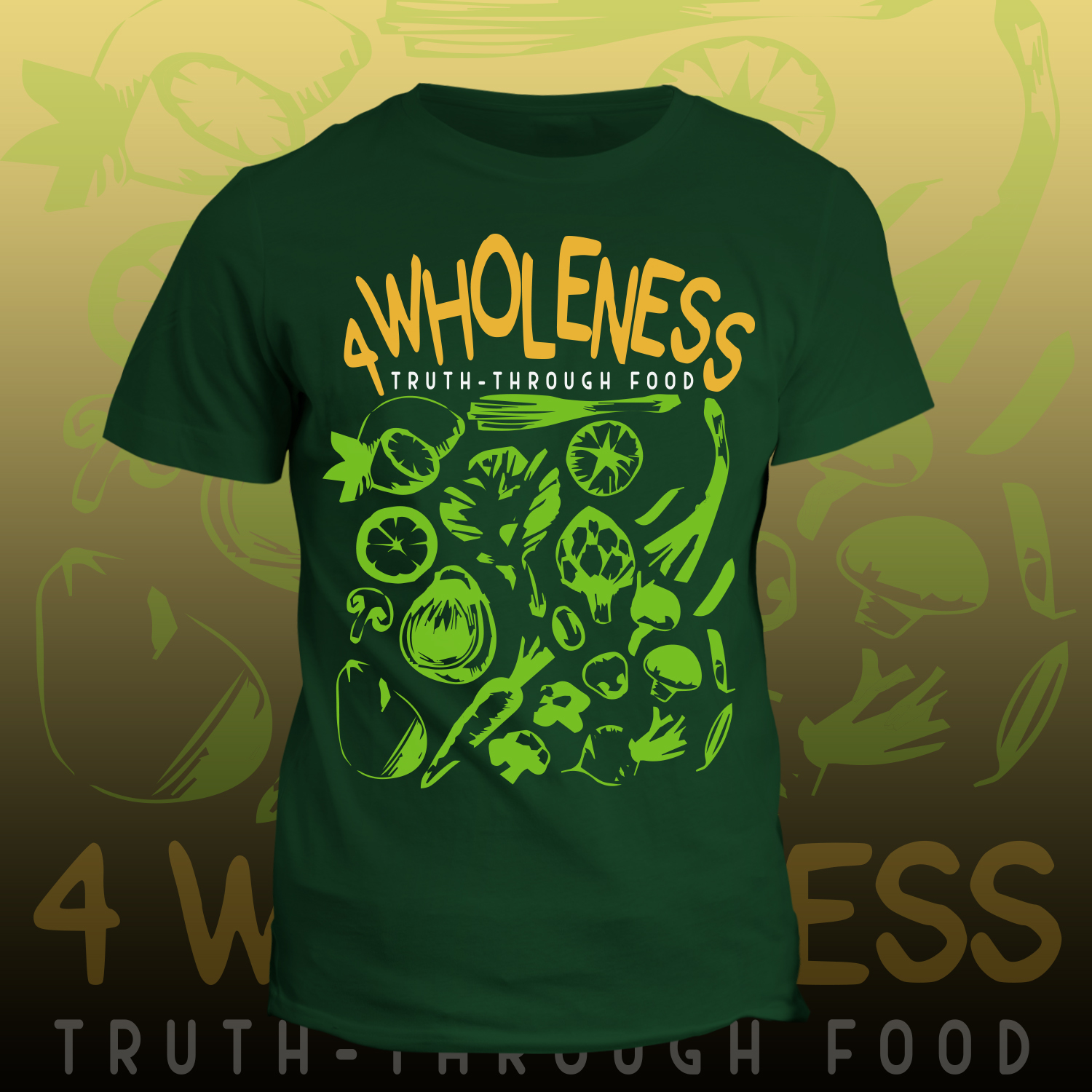 Bold Playful Health And Wellness T Shirt Design For Self By
