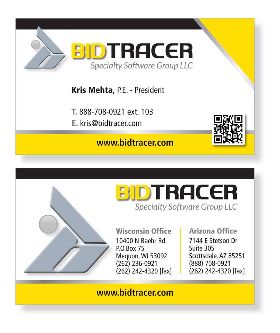 Modern, Professional Business Card Design for Kris Mehta by Patrick ...