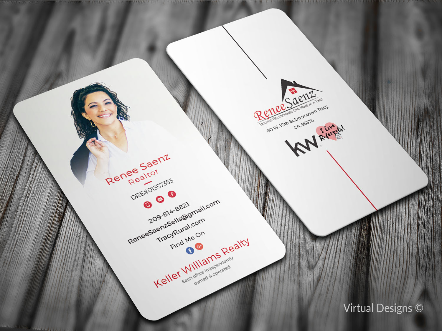 73 colorful business card designs real estate agent business card business card design by virtual designs for this project design 19313779 reheart Choice Image