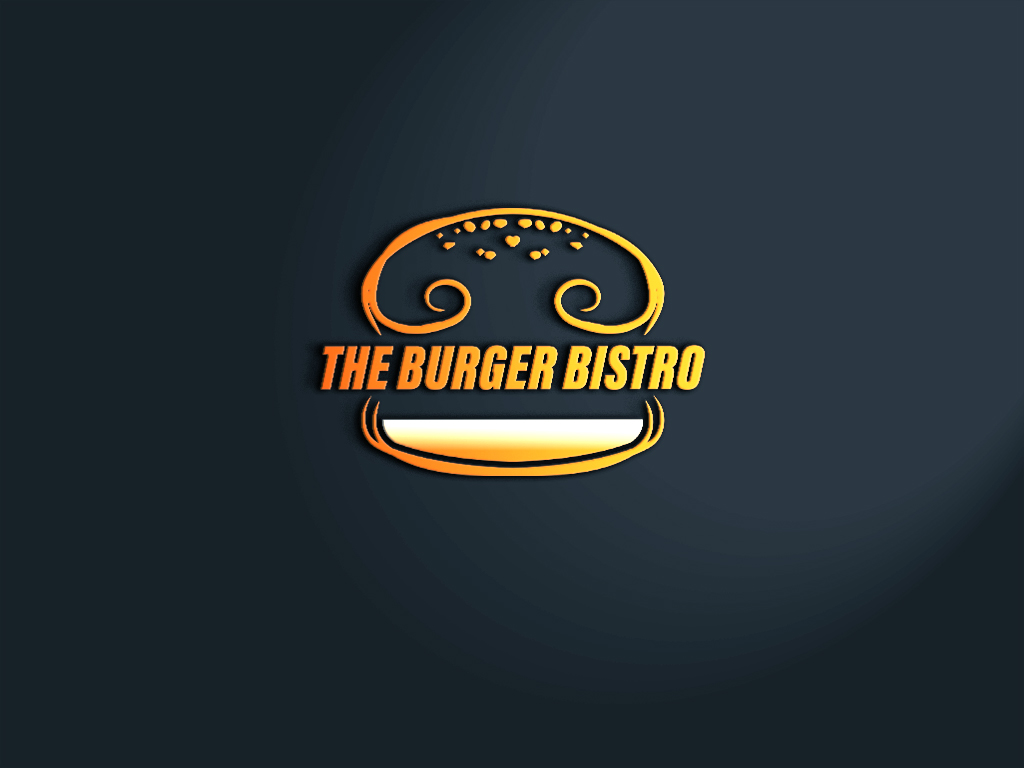 Conservative Bold Logo Design For The Burger Bistro By Meridesign2