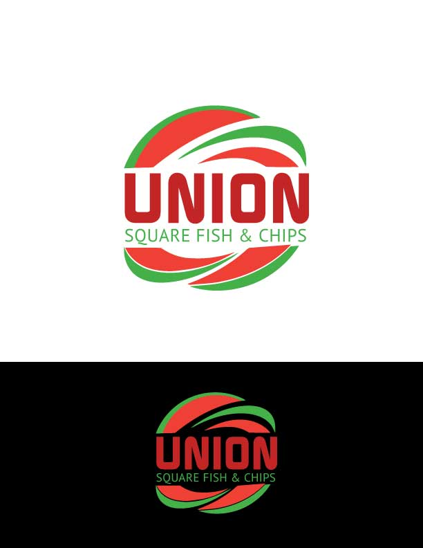 Logo Design for Union Square Fish & Chips by shimu 3 | Design #19342265