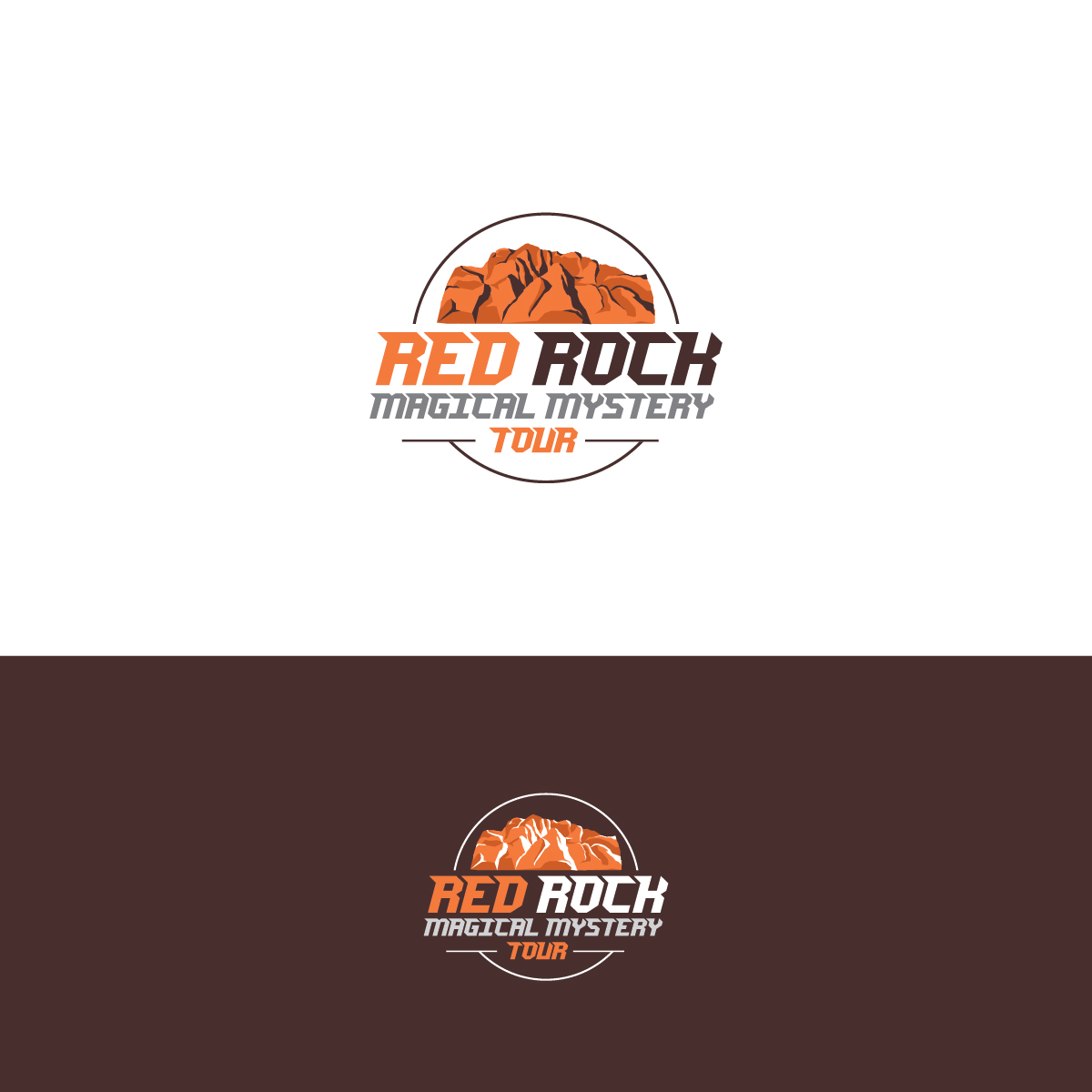Bold, Playful, Tourism Logo Design for Red Rock Magical