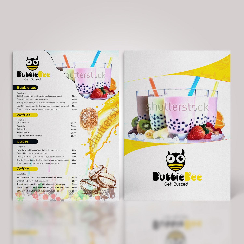 Playful, Modern Menu Design for a Company by technotecdesign