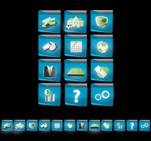 Graphic Design job – Online Admin soccer web-app buttons – Winning design by NalanrRadu