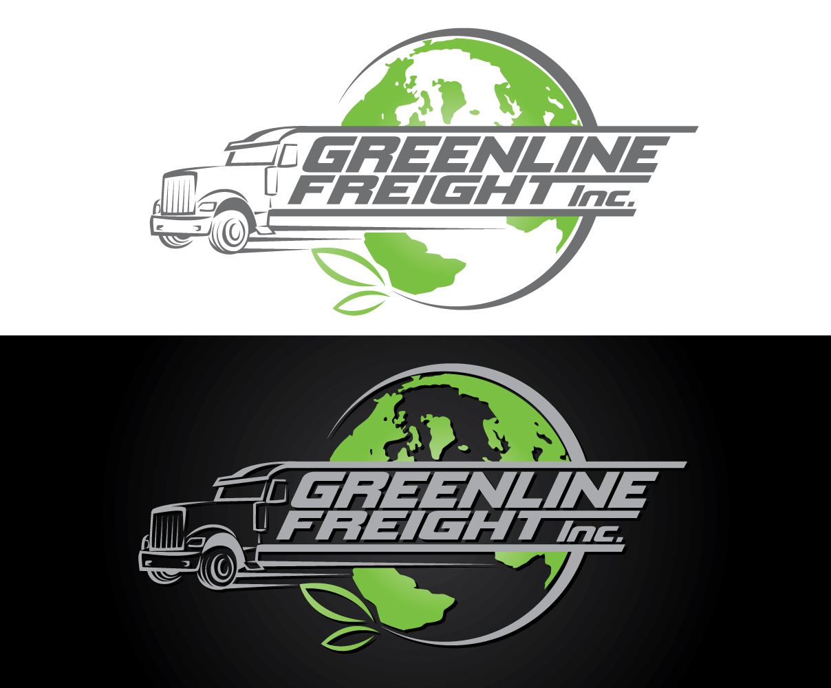 Greenline Freight Logo by Graphicsexpert