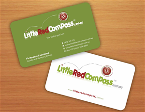 Red Business Card Design And Name 675500