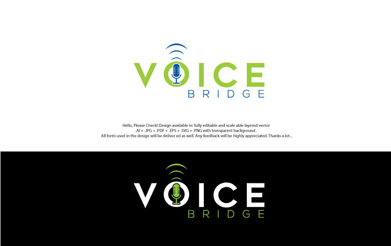 Voice Bridge Company Logo | 41 Logo Designs for Voice Bridge