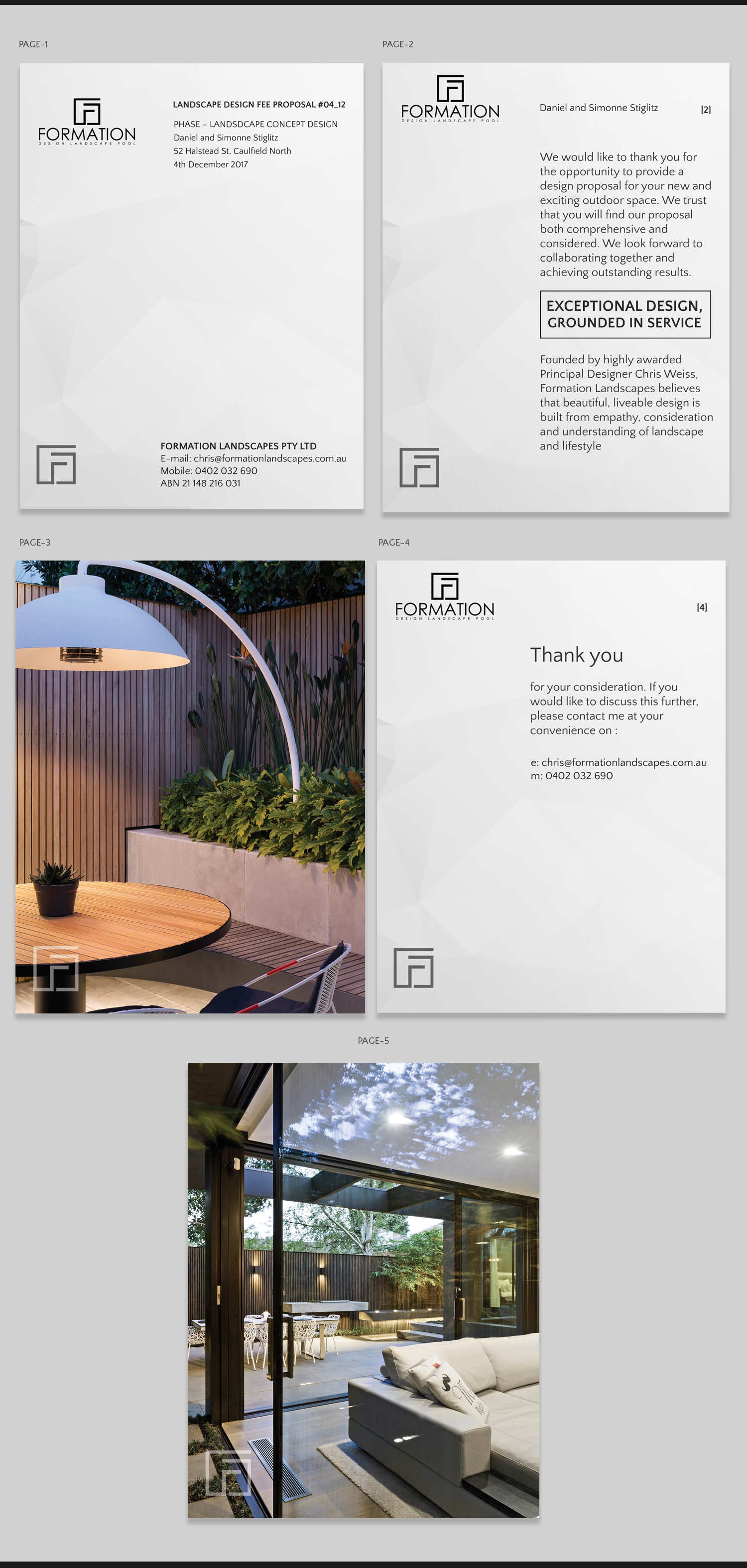 Modern, Serious, Landscape Design Flyer Design for a Company by Pd ...
