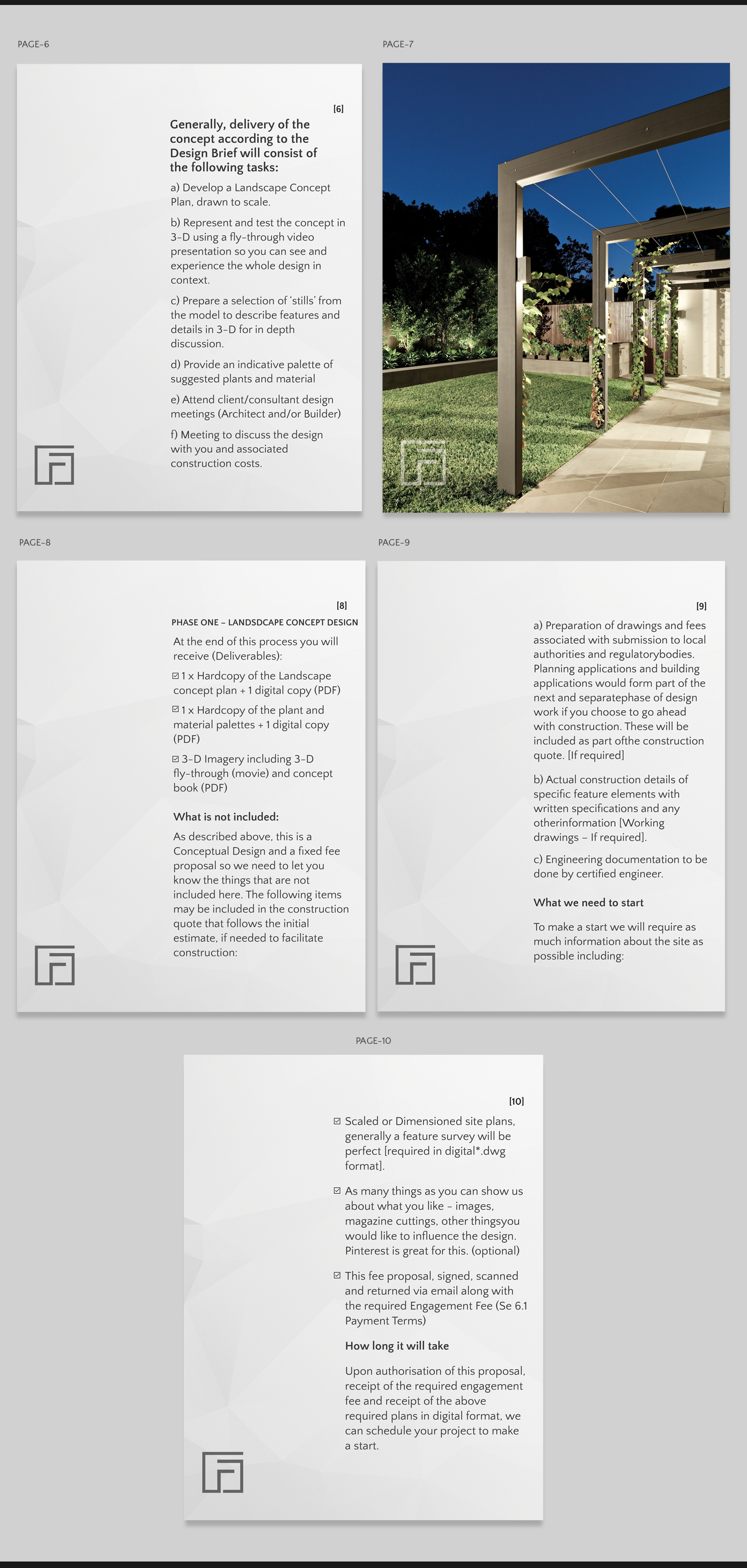 Modern Serious Landscape Design Flyer Design For A Company By Pd