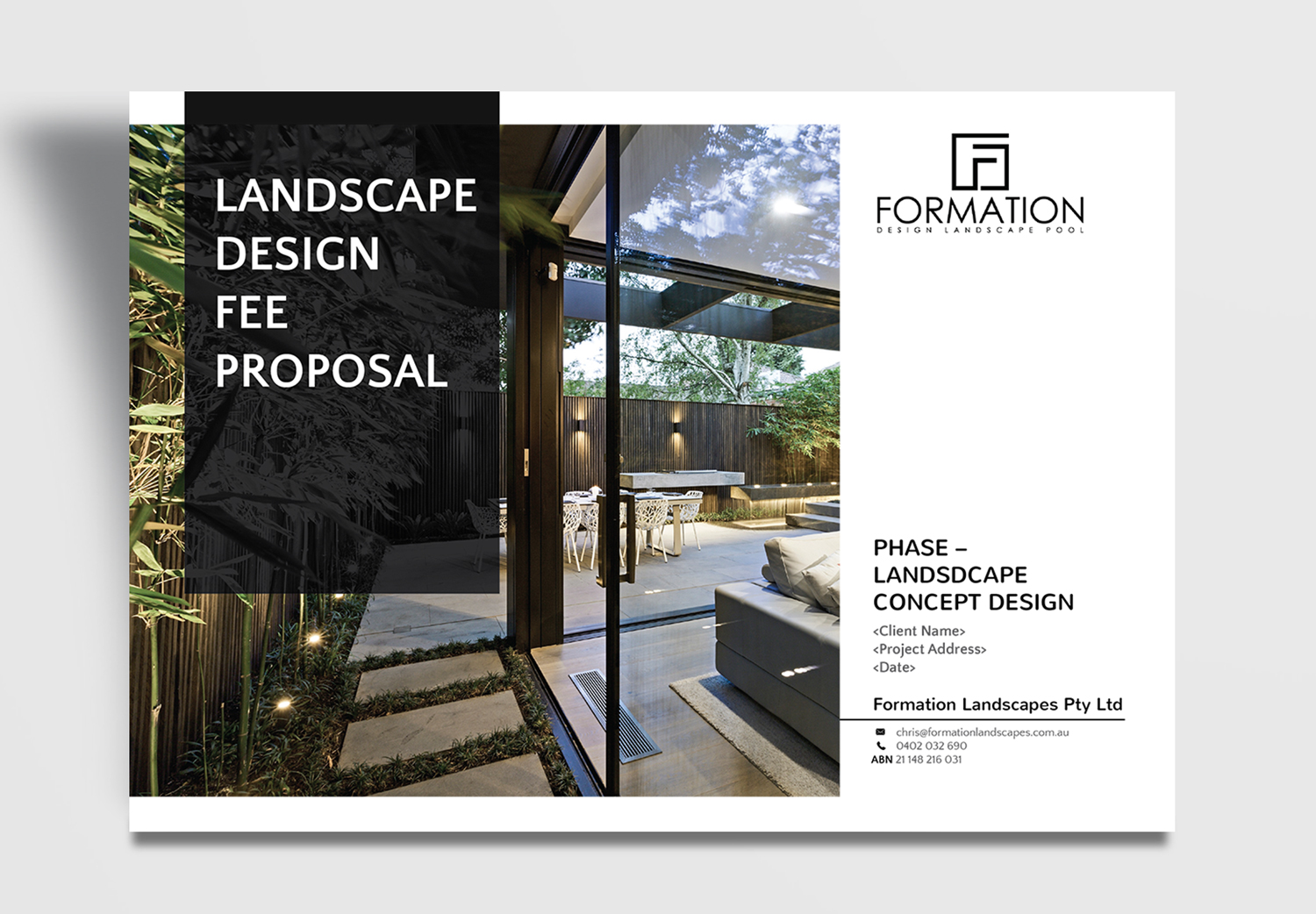 modern serious landscape design flyer design for a company by