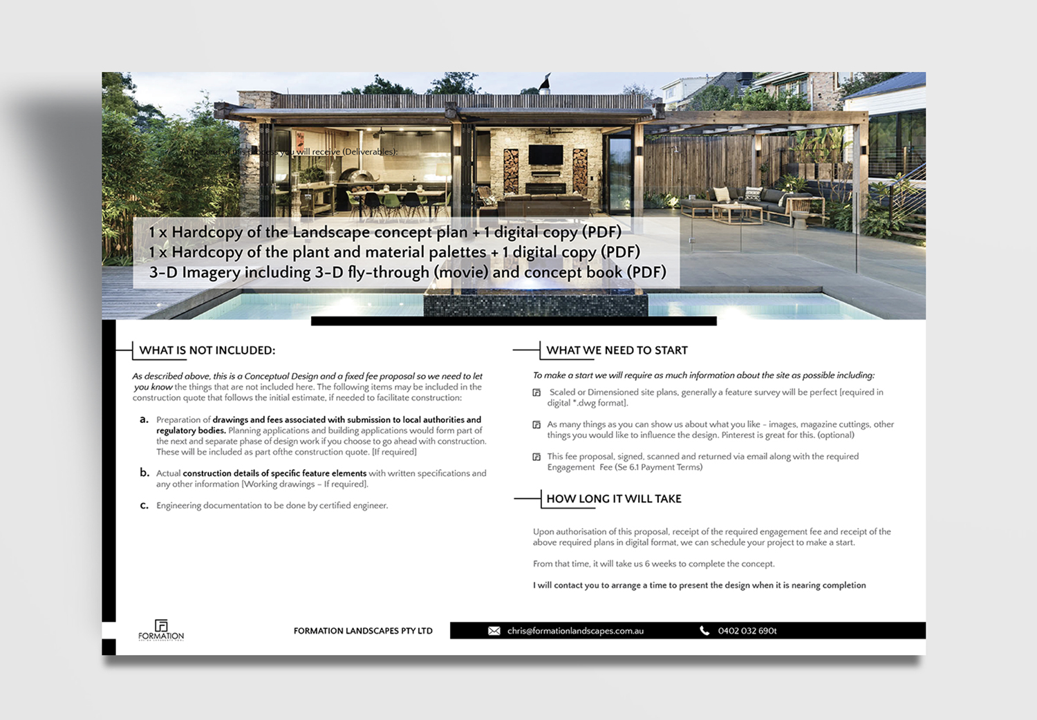 Modern, Serious, Landscape Design Flyer Design for a Company by