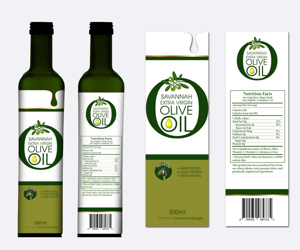 Free Olive Oil Label Design
