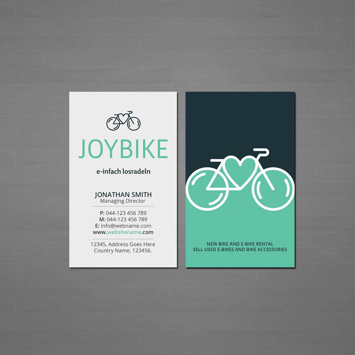 Visitenkarten Für Joybike 136 Business Card Designs For