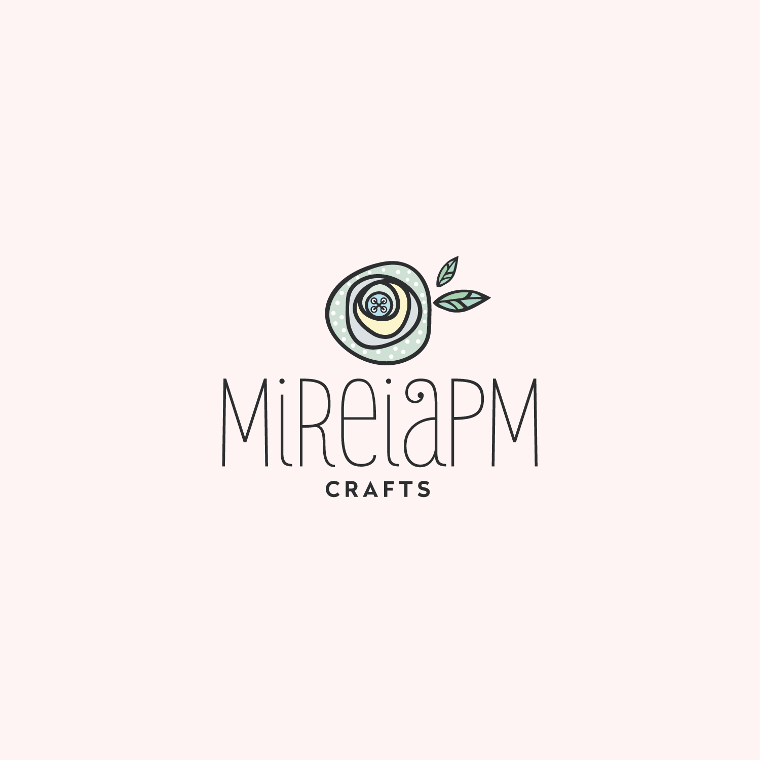 Colorful feminine logo design for mireiapm crafts by woow designs colorful feminine logo design for a company in spain design 19390296 stopboris Choice Image