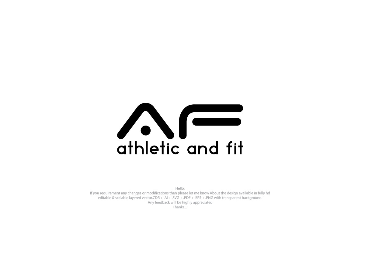 Bold Modern Fitness Logo Design For Athletic And Fit By Nafesa