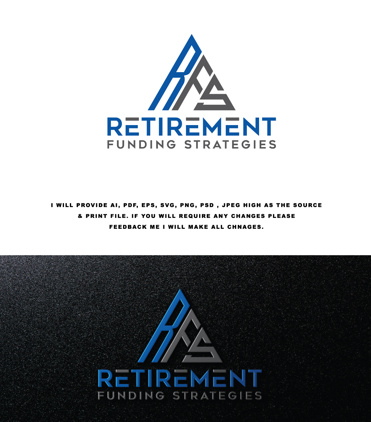 Logo Design For Retirement Funding Strategies By Mr Destiny