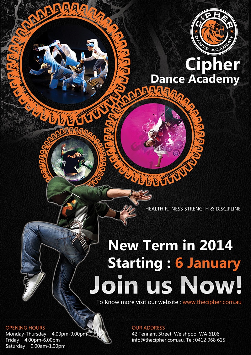 Poster design for class 5 - Bold Masculine Dance Studio Flyer Design By Roopaljain