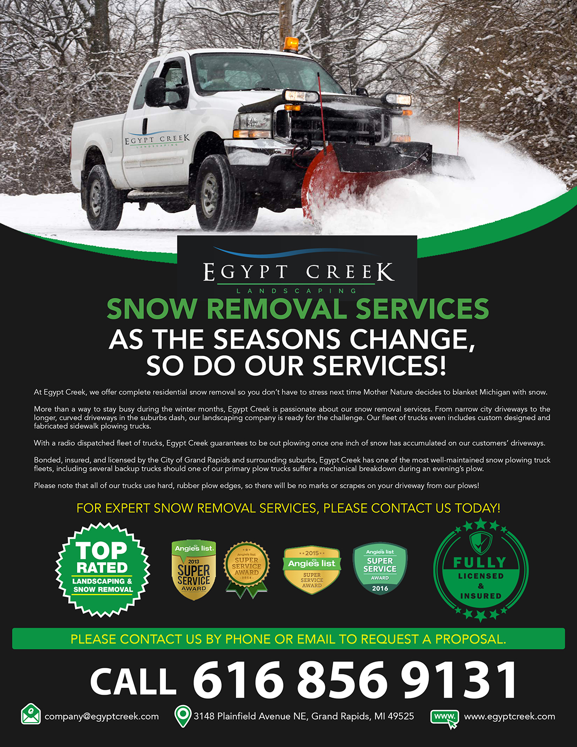 Snow Plowing Flyer Layout Topsimages