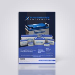 Modern Professional Automotive Flyer Design For Powerhouse Batteries Pty Ltd By Ellah Misola Design 19523101