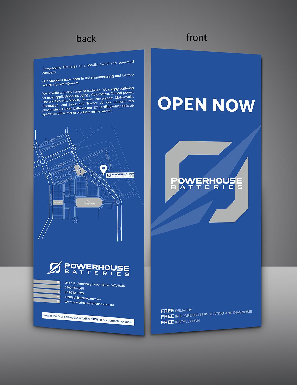 Modern Professional Automotive Flyer Design For Powerhouse Batteries Pty Ltd By Hamm Design 19600477