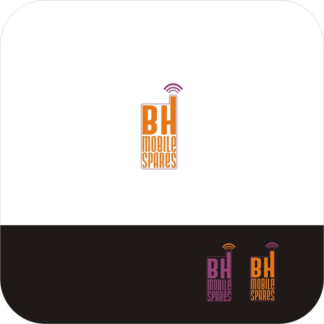 Bh Design modern colorful logo design for bh mobile spares by designraju