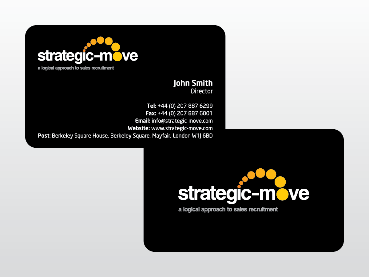 Upmarket modern advertising business card design for strategic business card design by mag wong for strategic move design 695084 reheart Choice Image