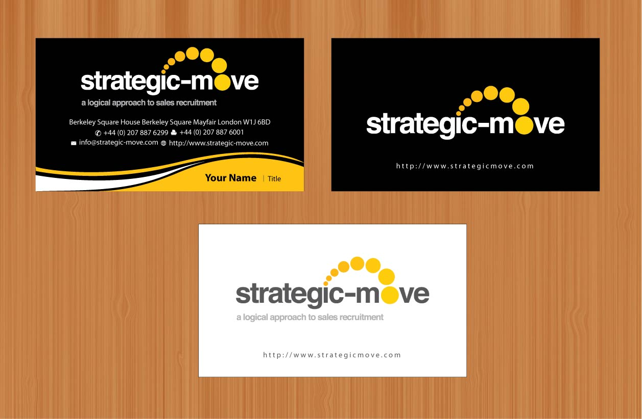 Upmarket, Modern, Advertising Business Card Design for Strategic ...