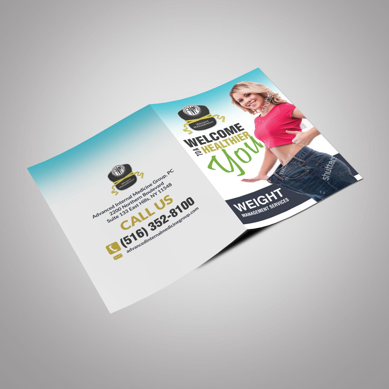 Elegant Personable Nutrition Flyer Design For Aim Weightmanagement