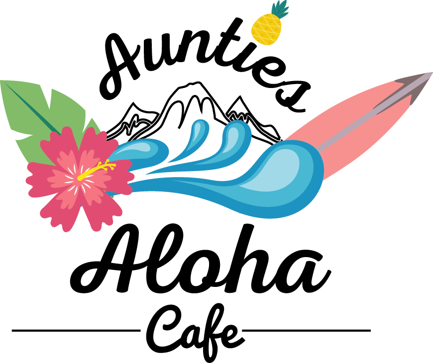 Elegant, Colorful, Restaurant Logo Design for Aunties Aloha Cafe by