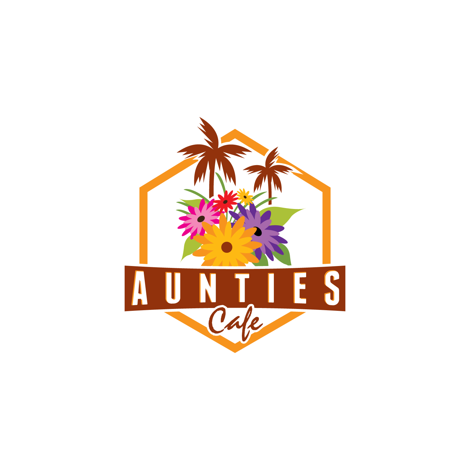 Elegant Colorful Restaurant Logo Design For Aunties Aloha Cafe By Creative Web Graphics Design 19496657