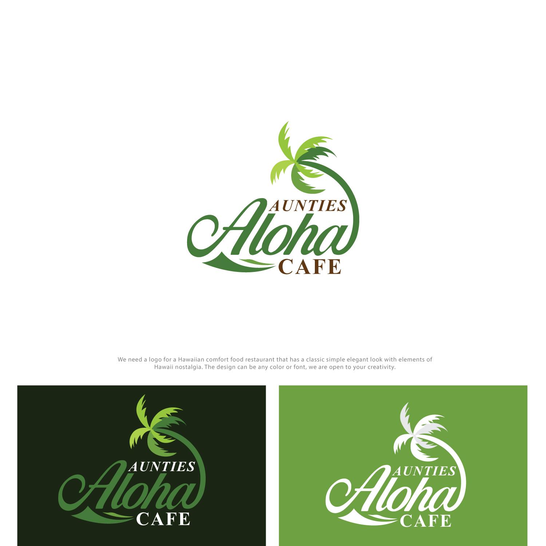 Elegant Colorful Restaurant Logo Design For Aunties Aloha Cafe By Classy Custom Design 19451777
