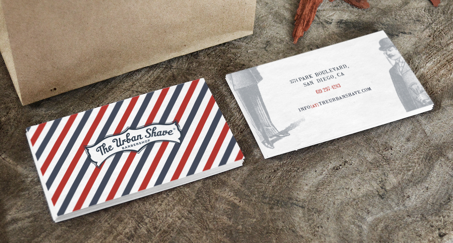Masculine Conservative Barber Business Card Design For The Urban
